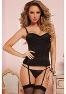 Knock Out Corset W/ Thong-black-m