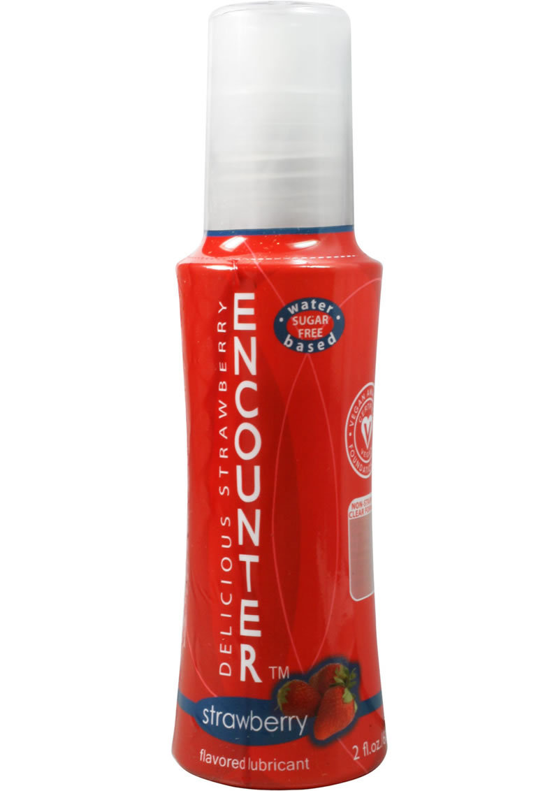 Delicious Encounter Flavored Lubricant Strawberry 2 Ounce