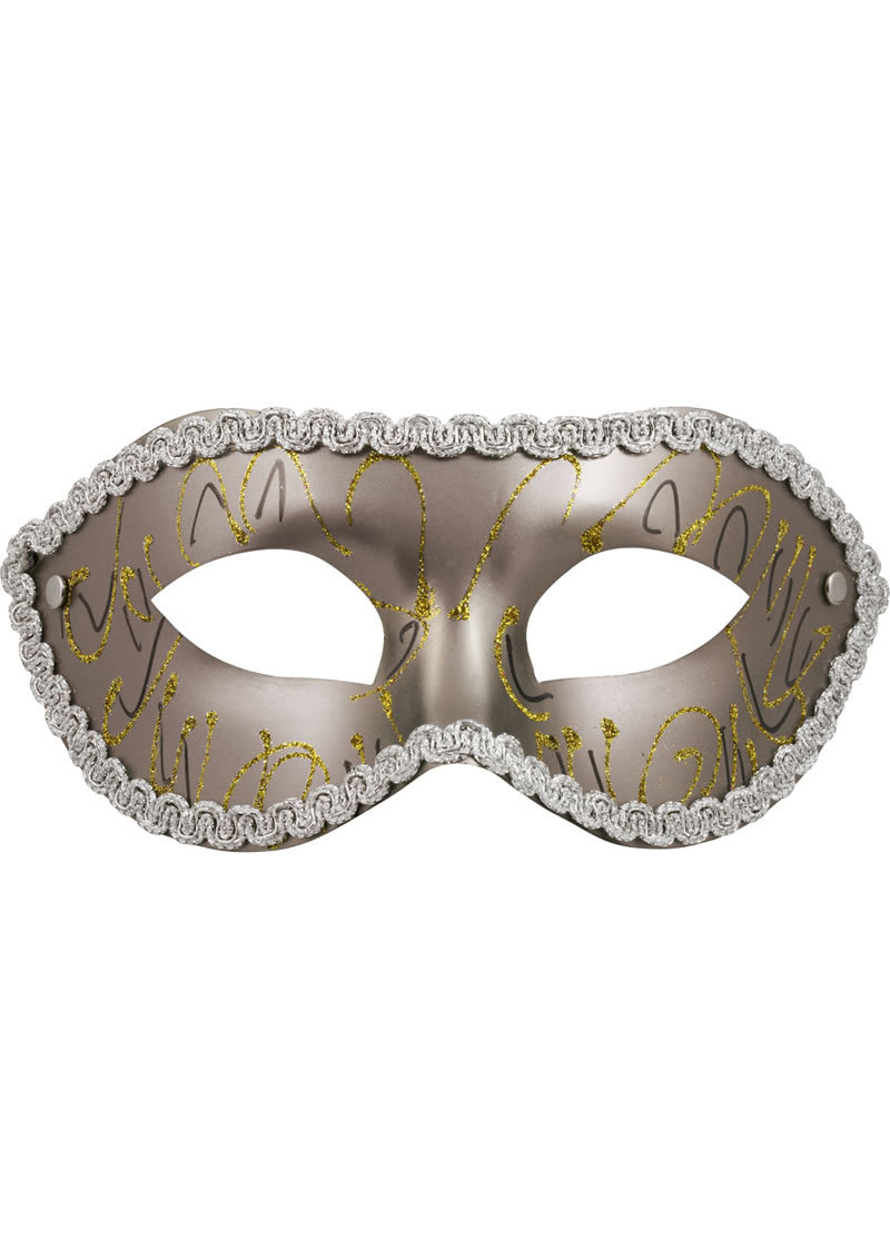 Sex And Mischief Masquerade Mask - Gray